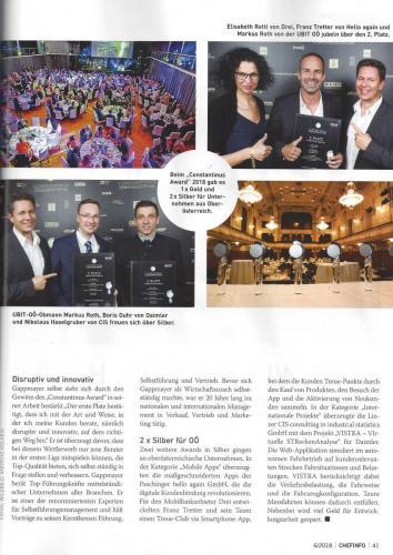 Chefinfo: Constantinus Award